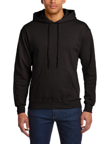Fruit of the Loom Herren Sweatshirt 12208B, Schwarz, S (Hoody Polo)