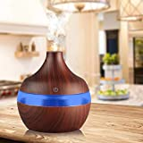 #9: Buyerzone Air Freshener Mini Wooden Finish Atomization Humidifier With LED Night Light For Car Home And Office (Multi Color)