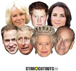 Gli adulti La regina Elisabetta Matrimonio Reale Britannico Costume Vestito Maschera