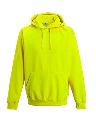 noTrash2003 NEON Sweatshirt mit Kapuze Hoodie floureszierend versch. Farben und Größen (XXL, Electric Yellow)