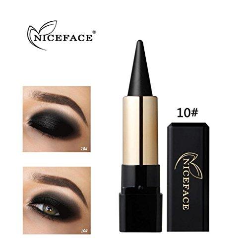 Fards à paupières, Sansee Beauté Eyeliner imperméable à l'eau Crème Eye Liner Pen Crayon Eye Shadow Gel Maquillage (#10)
