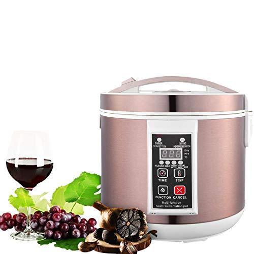 Vogvigo 6L Schwarzer Knoblauch-Fermenter Vollautomatischer, intelligenter Kontrollknoblauch-Hersteller Health Food Maker , Multifunktionale Schwarze Knoblauch-Maschine für Joghurt-Natto-Reiswein (Knoblauch Maschine)