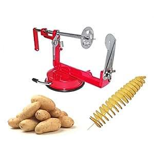 Sbuccia patate a spirale twister taglia affetta pela patate manuale in acciaio inox. MWS