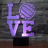 LOVE 3D lampe LED 7 capteur de changement de couleur à distance lettre 3D Night...