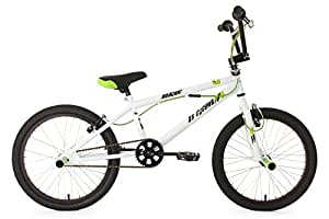 "KS Cycling 593B Hedonic Vélo BMX Freestyle 20"" Blanc"