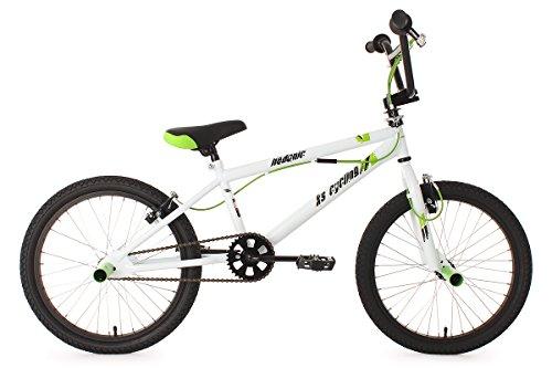 """KS Cycling 593B Hedonic Vélo BMX Freestyle 20"""" Blanc"""