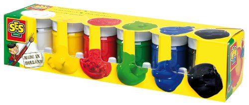 SES creative 00311 - Plakatfarben 6 Farben je 45 ml
