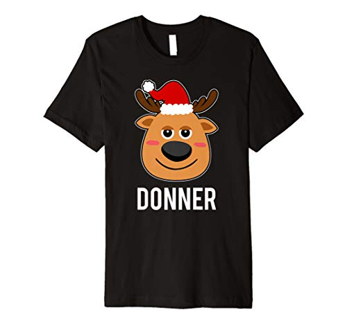 (Santa Rentier Donner T-Shirt Weihnachten Gruppe Kostüm Tee)