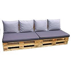 Cojines, almohadas para europalets, set de 6 almohadas