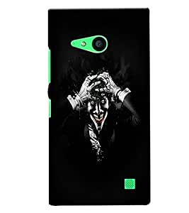 Fuson 3D Printed Ghost Designer back case cover for Nokia Lumia 730 - D4449