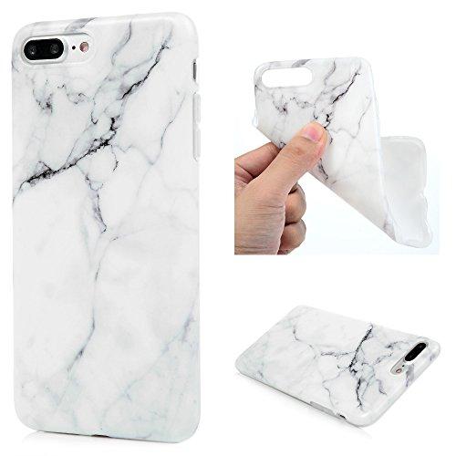 Galleria fotografica iPhone 7 Plus case, ultra slim Premium morbido TPU silicone di marmo modello flessibile leggero copertura protettiva antigraffio antiurto bumper anti-scivolo custodia cover per iPhone 7 Plus