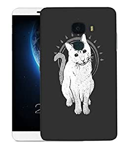 Snoogg Three Eyes Cat Designer Protective Back Case Cover For LETV LE MAX