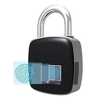 Fingerabdruck-Lock, wasserdichtes Lock mit Finger Print Security Touch Keyless Lock USB-Ladung für Gym Locker, Koffer, Schrank Box