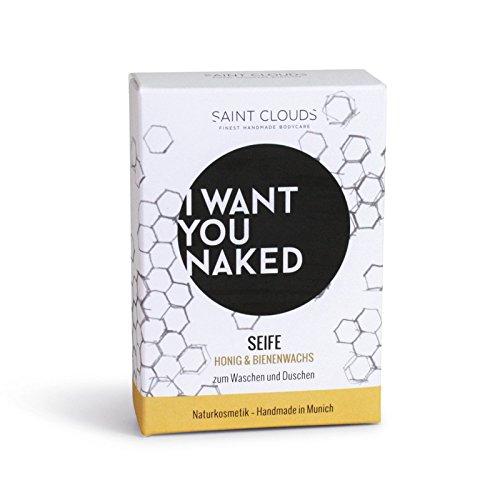 I want you naked - Gesichtsseife für jeden Hauttyp mit Honig und Bienenwachs, 100 g