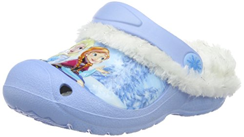 Die Eiskönigin Mädchen Girls Kids Sandals and Mules Clogs, Blau (Lbl/Wht Mul 057), 28 EU