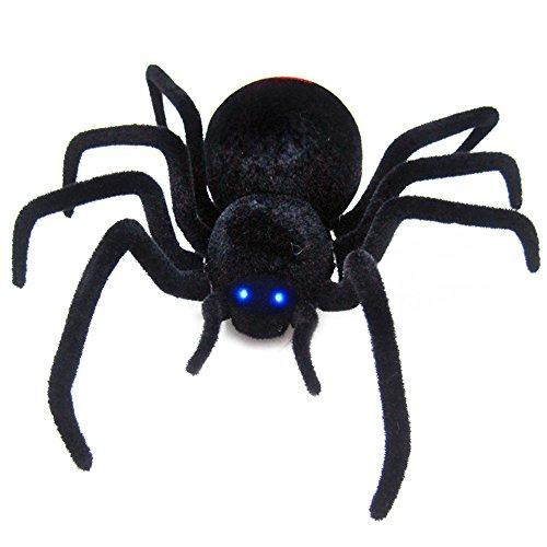 EARS - Halloween-Fernsteuerungs-Spinnen-Spielzeug-Geschenk Riesige Spinne Latrodectus Schwarze Witwe (Schwarz)