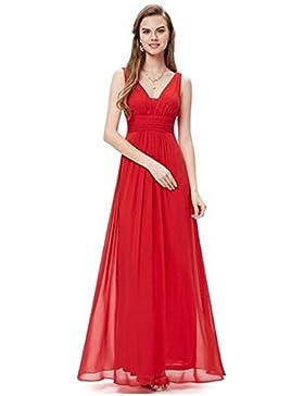 Abito Donna Vestiti Estivi Eleganti Lunghi Di Chiffon Senza Maniche Da Sera Cerimonia Ballo Coctail Dress Vestito...