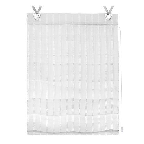 Lichtblick Raffrollo mit Hakenaufhängung, 90 x 140 cm in Weiß, ohne Bohren, mit Klemmfix-Technik, stilvoller Blend- & Sichtschutz für Fenster