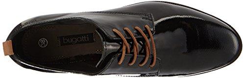 Bugatti V5107PR9, Derbies à lacets femme Noir - Noir