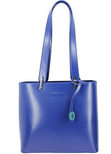 Lamarthe, Borsa a mano donna blu blu 29.5 (L) x 27.0 (H) x 12.0 (E) cm
