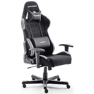 Robas Lund OH/FD01/NG DX Racer 5 Gaming-/ Schreibtisch-/ Bürostuhl, schwarz/grau, 74 x 52 x 123-132 cm