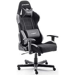 Robas Lund, DX Racer 5 - Silla de escritorio/oficina/ gaming, Negro/Gris, 74 x 52 x 123-132cm
