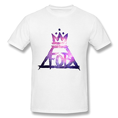 yunggoo Herren Fall Out Boy Logo T Shirt Supernova Gr. XX-Large, weiß - Fall Boy Flag Shirt Out
