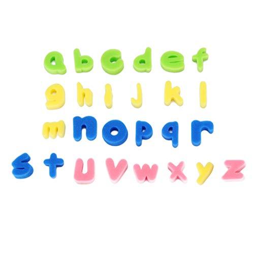 Baoblaze 26 Schwamm Glitzer Schaum Buchstaben und Zahlen Bad Spielzeug für Baby Kinder