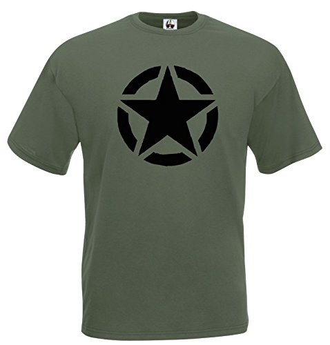 Settantallora - T-shirt Maglietta J580 US Army (Militari T-shirt)