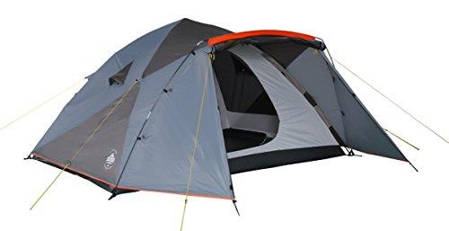 Lumaland Tienda de campaña Familiar Light Pop Up 6 Personas Camping Acampada Festival 315 x 245 x 170 cm Azul/Gris