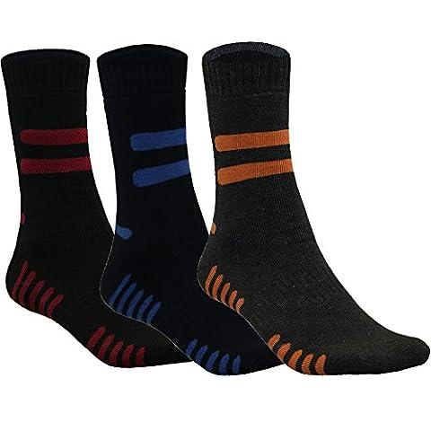 3-6-9-12 Paar Thermo Socken Sportsocken Warm Winter Baumwolle Herren Damen von SGS (43-46, Modell 6 - 6 Paar)