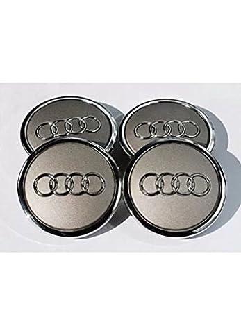 OEM Lot de 4 enjoliveurs Audi 69mm