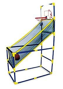 Mobiler Basketballkorb für drinnen und draußen, mit Ball und Pumpe,...