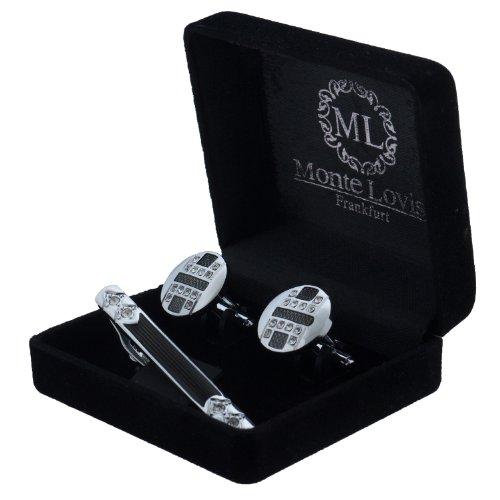 Monte Lovis - Edles Herren Set bestehend aus Krawattennadel & Manschettenknöpfe - Hochwertiger Geschenk zum fairen Preis (S31)