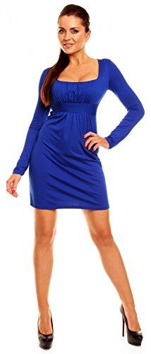 Zeta Ville - Abito a pieghe in jersey - vestito a taglio impero - donna - 931z Blu Royal