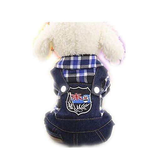 Jcloris Bomei Haustier Hund Als Bär Dünnschliff Kleidung Bomei Kleines Kleid Hund Teddy Frühling Und Sommer@Dunkelblau_XL