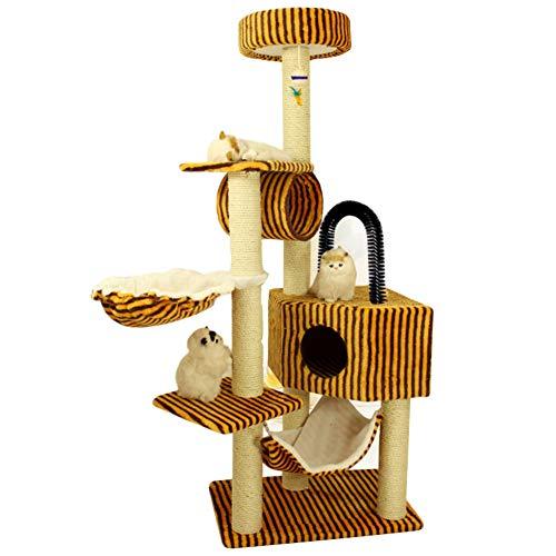 BollySeve Pet Gear Haustiere Treppen,kratzbaum Für Kleine Katzen Haustier Schritte Abnehmbar Waschbar Teppich Lauffläche-für Den Innen-außenbereich-f 55x65x155cm -