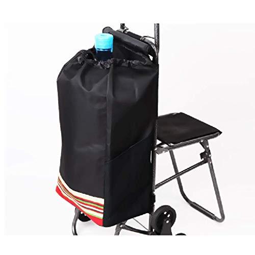 RTTgv Einkaufstrolleys Faltbare Einkaufswagen Sitz und Mobile Zubehör Tasche Einkaufskorb tragbare Radverschönerung (Farbe : B)