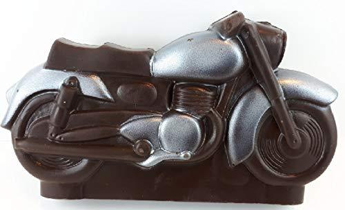 Preisvergleich Produktbild 03 022020 Schokoladen Motorrad in Silber,  Vatertag,  Schokoladenmotorrad,  ZARTBITTER,  250 gr. Harley,  Motorrad,  Davidson,  Biker,  Geschenk,  Moped
