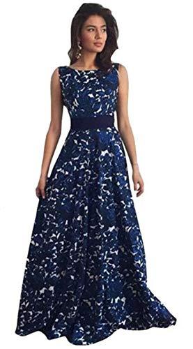 online store 11e63 8bc7f feiXIANG Vestito da Donna, Abito a Pieghe Abiti Vestito da Matrimonio  Damigella d'Onore di Cerimonia Nuziale Formale Floreali Lungo Prom Dress  Vestiti ...