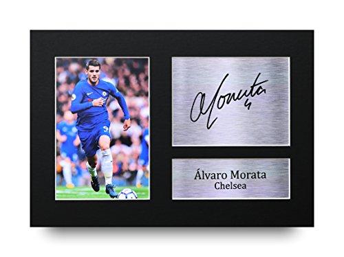 Alvaro Morata firmado A4impreso Chelsea impresión fotográfica imagen pantalla–gran Idea de regalo