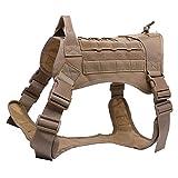 eamqrkt Tactical Training Hundegeschirr Weste Militär verstellbar Molle Nylon Westen Hunde Produkte braun