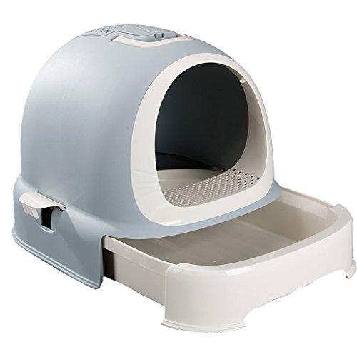 CHONGWFS Schublade Typ Katzenklo Katze WC Umweltschutz Kunststoff/leicht zu reinigen/einfach zu installieren Geeignet für verschiedene Körpertypen Katzentoilette