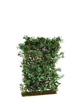 Ficus-Hecke, 3600 Blätter, Sichtschutz mit Breite 90cm x Höhe 130cm – Kunsthecke künstliche Hecke Kunstpflanzen