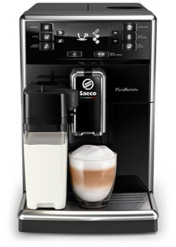 Philips Saeco PicoBaristo SM5460/10 Macchina da Caffè Automatica, 10 Bevande, con Macine in Ceramica, Filtro AquaClean, Caraffa Base Integrata, Nero