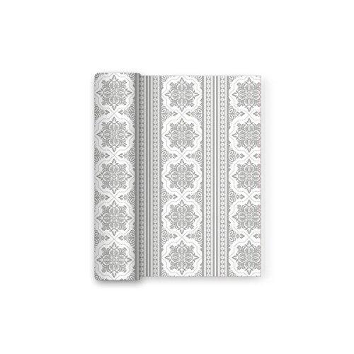 Mantel plateado papel decorado ideal comuniones, bodas