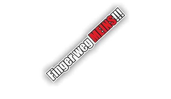 Folien Zentrum 1x Finger Weg Meins 18 X 2 5 Cm Aufkleber Tuning 207 Shocker Auto Jdm Oem Dub Decal Sticker Illest Dapper Oldschool Folie Auto