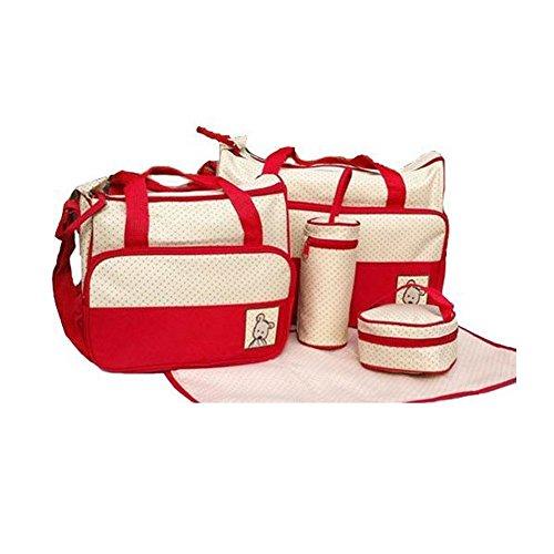Mayfield Plaza En 5 Colores Bolsa de Cambio de Bebé de 5 Piezas Rojo