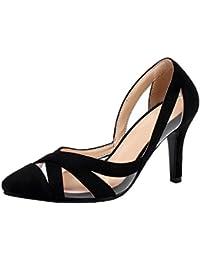 Scarpe 8 cm it Amazon Scarpe Nere donna da Chiuse 12 Scarpe aw70HC