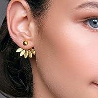 Boucles d'oreilles fleur en argent 925 faites à la main par Emmanuela, boucles d'oreilles veste avec des feuilles,...
